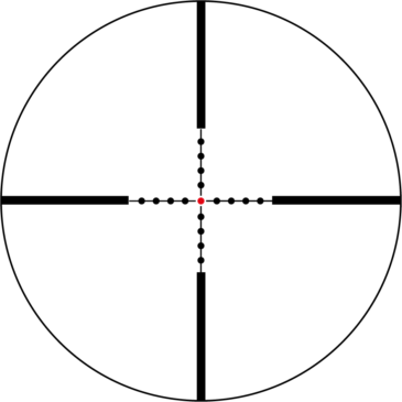 Absehen-1-6x24 Reticle For FAL32-0020`30`40`50 MilDot