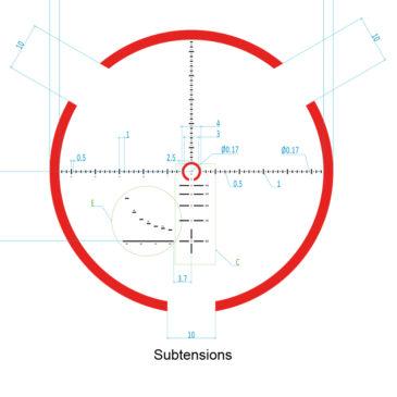 Absehen 1-8x26-Subtensions